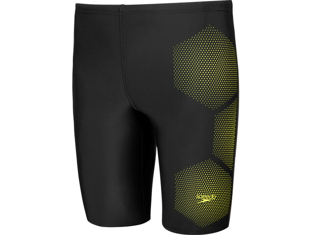 speedo Tech Placement Jammer Heren, tech black/fluo yellow